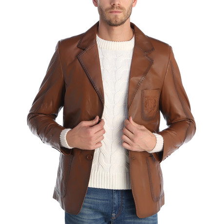 Kyle Leather Jacket // Chestnut (XS)