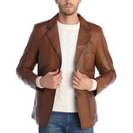 Kyle Leather Jacket // Chestnut (M)