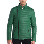 Mason Leather Jacket // Green (S)