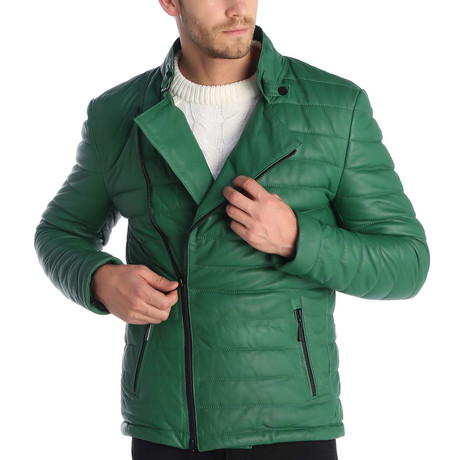 Mason Leather Jacket // Green (S)