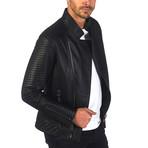 Fulton Leather Jacket // Black (M)