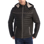 Amado Leather Jacket // Brown (S)