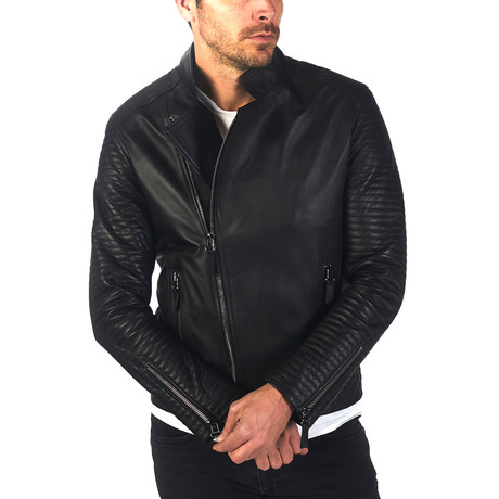 Fulton Leather Jacket // Black (XS)