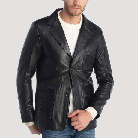 Vincenzo Leather Jacket // Black (XS)