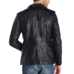 Walter Leather Jacket // Black (S)