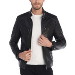 Lloyd Leather Jacket // Black (2XL)