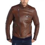 Bertram Leather Jacket // Brown (M)