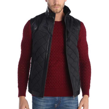 Jewel Leather Jacket // Black (S)