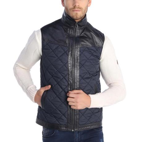 Eldridge Leather Vest // Navy (S)