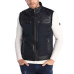 Darryl Leather Vest // Black (S)