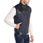 Art Leather Jacket // Navy (S)