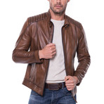 Mikel Leather Jacket // Cognac (S)