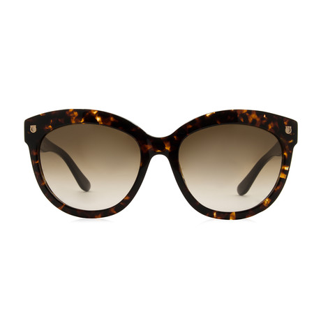 Ferragamo // Women's Cat Eye Sunglasses // Tortoise + Brown Gradient