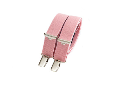 Photo of Bertelles Handcrafted Belgian Suspenders Skinny Clip-On // Baby Pink by Touch Of Modern