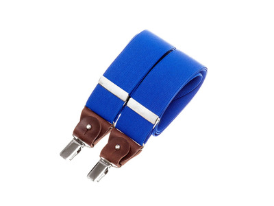 Bertelles Handcrafted Belgian Suspenders Wide Clip-On W/ Leather Details // Royal Blue by Touch Of Modern - Denver Outlet