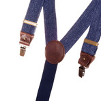 Wide Clip-On + Leather Details // Denim