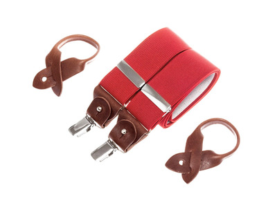 Bertelles Handcrafted Belgian Suspenders Superior Wide // Red by Touch Of Modern - Denver Outlet