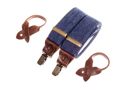 Photo of Bertelles Handcrafted Belgian Suspenders Superior Wide // Denim by Touch Of Modern