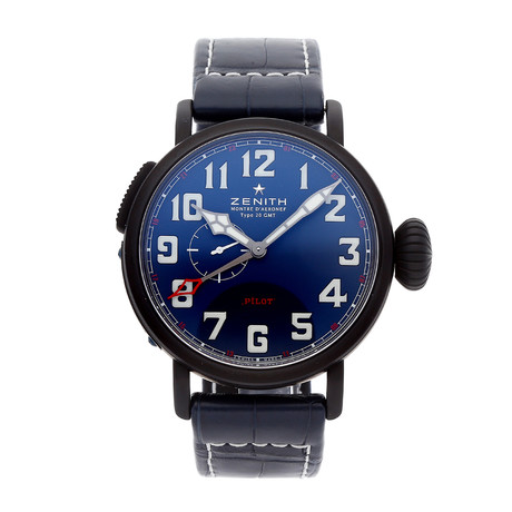 Zenith Pilot Montre Aeronef Type 20 GMT Automatic // 96.2436.693/51.C779 // Pre-Owned