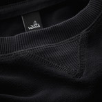 Rowe Pique Sweater // Black (S)