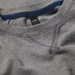 Rowe Pique Sweater // Mid Marl Grey (L)