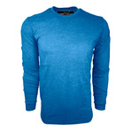 Healther Suede Long Sleeve Crew Neck // Royal Blue (M)