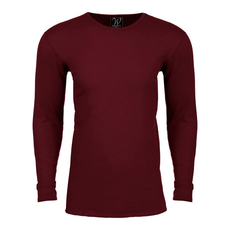 Long Sleeve Thermal Crew Neck // Burgundy (S)
