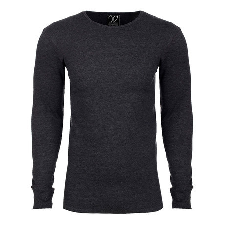 Long Sleeve Thermal Crew Neck // Charcoal (S)