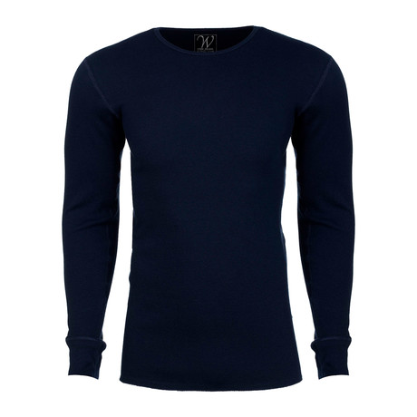 Long Sleeve Thermal Crew Neck // Navy (S)