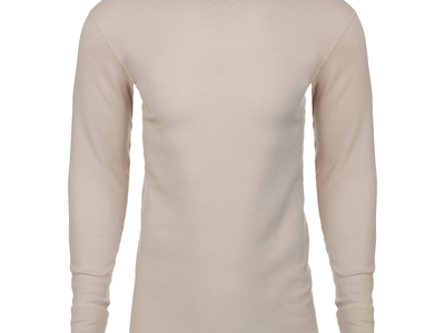 Ethan Williams Cotton Essentials For Every Occasion Long Sleeve Thermal Crew Neck // Sand (S) by Touch Of Modern - Denver Outlet