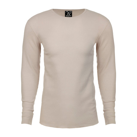 Long Sleeve Thermal Crew Neck // Sand (S)