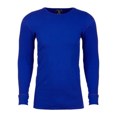 Long Sleeve Thermal Crew Neck // Royal Blue (S)