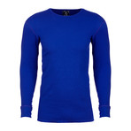 Long Sleeve Thermal Crew Neck // Royal Blue (L)