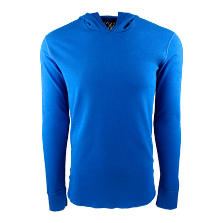 Long Sleeve Thermal Hoodie // Royal Blue (S)