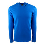 Long Sleeve Thermal Hoodie // Royal Blue (M)