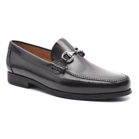 Bryson Leather Sole Moccasin // Black (Euro: 37)