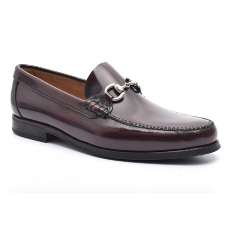 Calvin Leather Sole Moccasin // Bordeaux (Euro: 37)