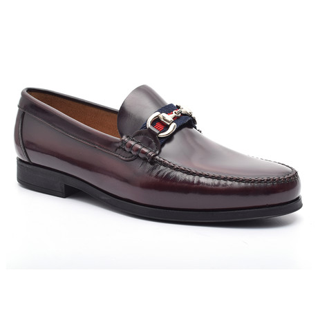 Daniel Rubber Sole Moccasin // Bordeaux (Euro: 37)
