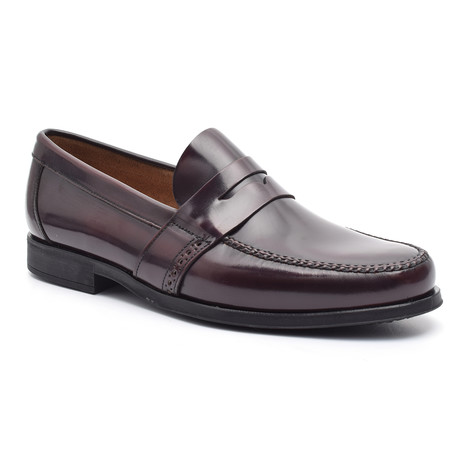 Mac Leather Sole Moccasin // Bordeaux (Euro: 37)