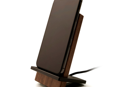 EXOvault Artisan Crafted Wireless Chargers Black + Walnut Charging Stand by Touch Of Modern - Denver Outlet