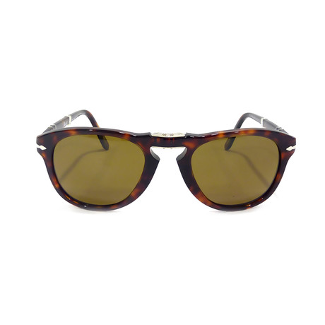 Persol 714 Iconic Folding Sunglasses // Havana + Brown Polarized (52mm)