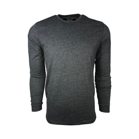 Healther Suede Long Sleeve Crew Neck // Heavy Metal (S)