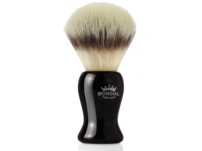 Photo of Mondial Shaving Artisanal Grooming Products Shaving Brush // Ecosilvertip Black Handle by Touch Of Modern