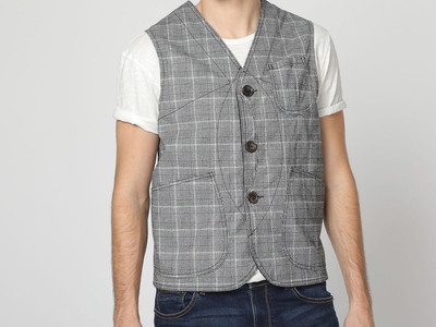 Photo of Vintage 55 Americana Inspired Casual Styles Tailor Gilet // Gray (S) by Touch Of Modern