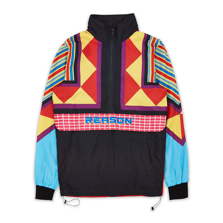 Neo Abstract Track Jacket // Multicolor (S)