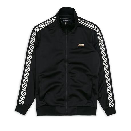 Bergen Check Track Jacket // Black (S)