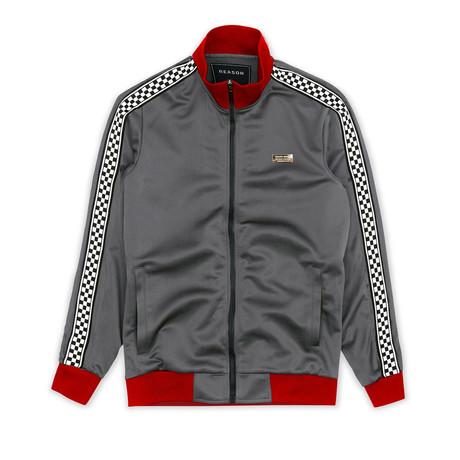 Lexington Check Track Jacket // Gray (S)