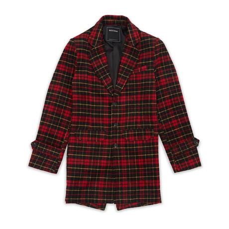 Plaid Overcoat // Red + Yellow (S)