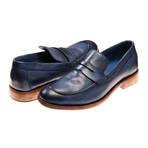 Alessandro Loafer // Navy Leather (Euro: 41)