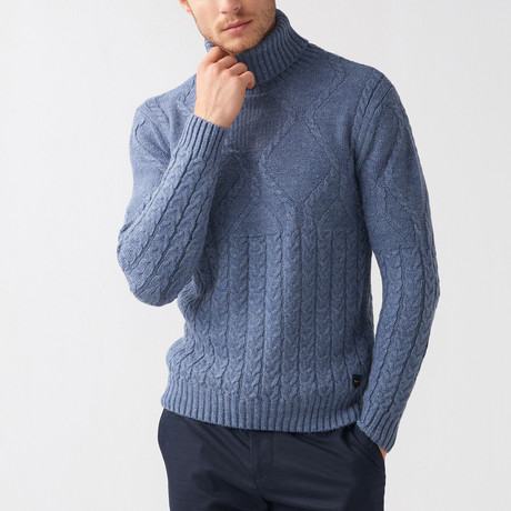 Bryce Tricot Sweater // Indigo (S)